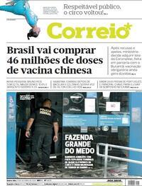Capa do jornal Correio 21/10/2020