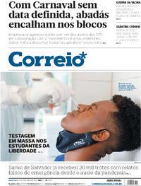 Capa do jornal Correio 22/10/2020