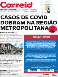 Capa do jornal Correio 25/05/2020