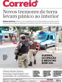 Capa do jornal Correio 29/10/2020