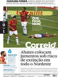 Capa do jornal Correio 02/08/2021