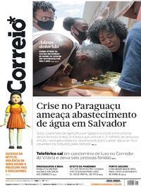 Capa do jornal Correio 15/10/2021