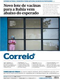 Capa do jornal Correio 16/04/2021