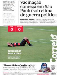 Capa do jornal Correio 18/01/2021