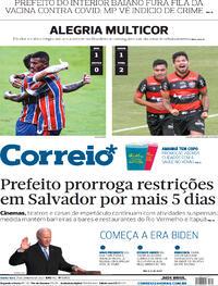 Capa do jornal Correio 21/01/2021