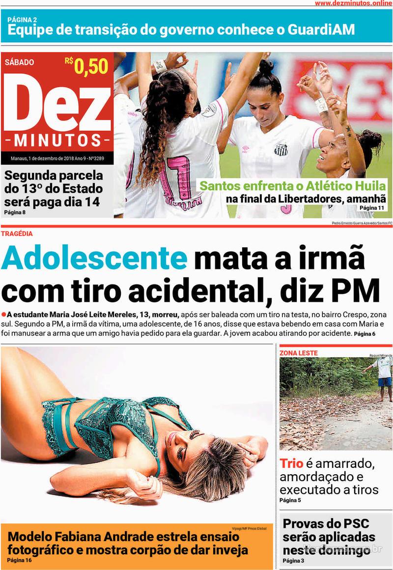 Capa jornal Dez Minutos 01/12/2018