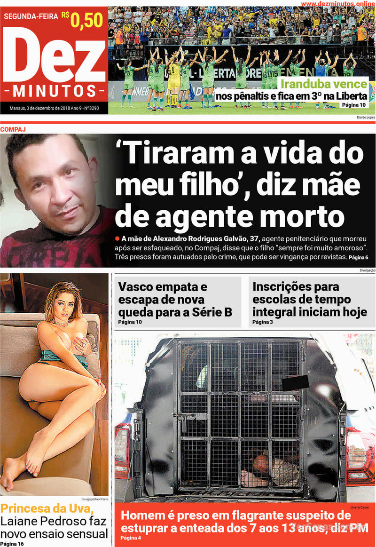 Capa jornal Dez Minutos 03/12/2018