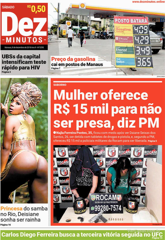 Capa jornal Dez Minutos 08/12/2018