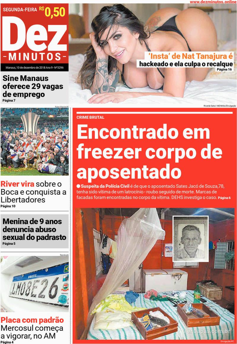 Capa jornal Dez Minutos 10/12/2018