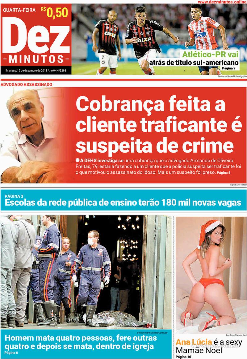 Capa jornal Dez Minutos 12/12/2018