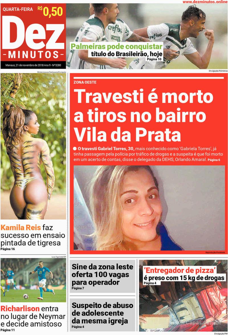 Capa jornal Dez Minutos 21/11/2018