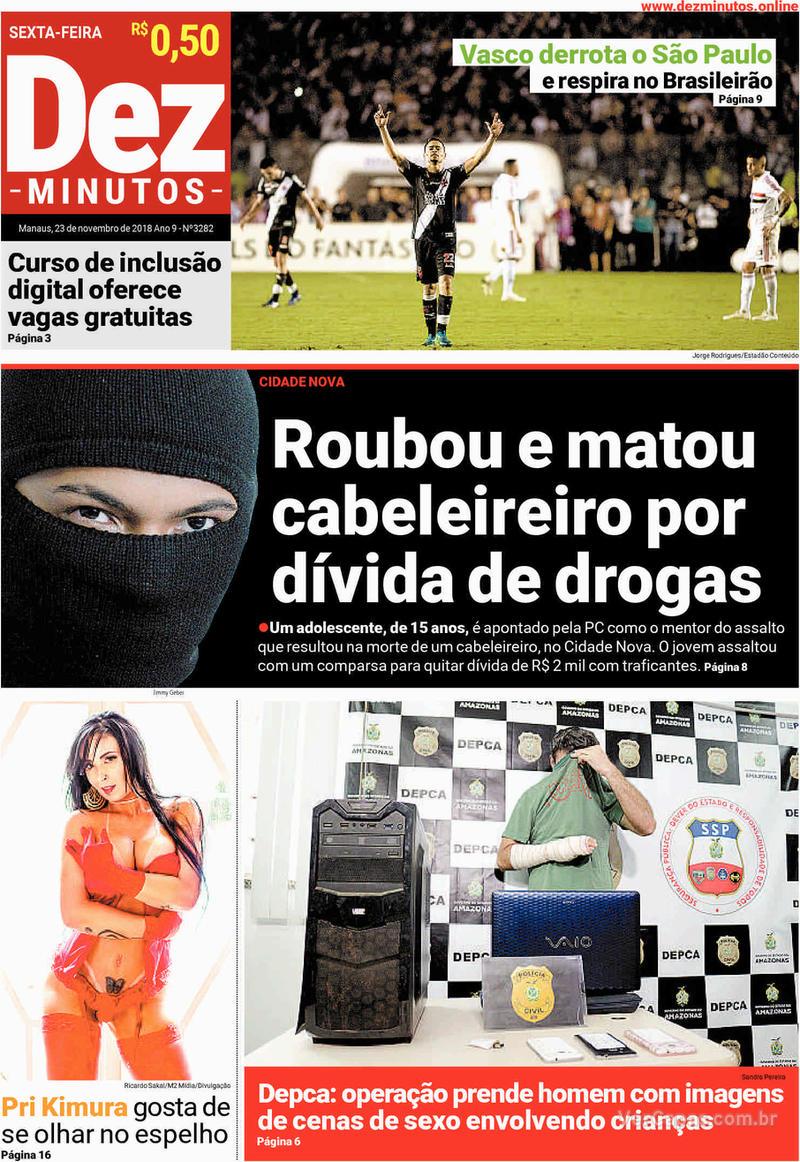 Capa jornal Dez Minutos 23/11/2018