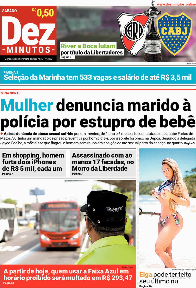 Capa jornal Dez Minutos 24/11/2018
