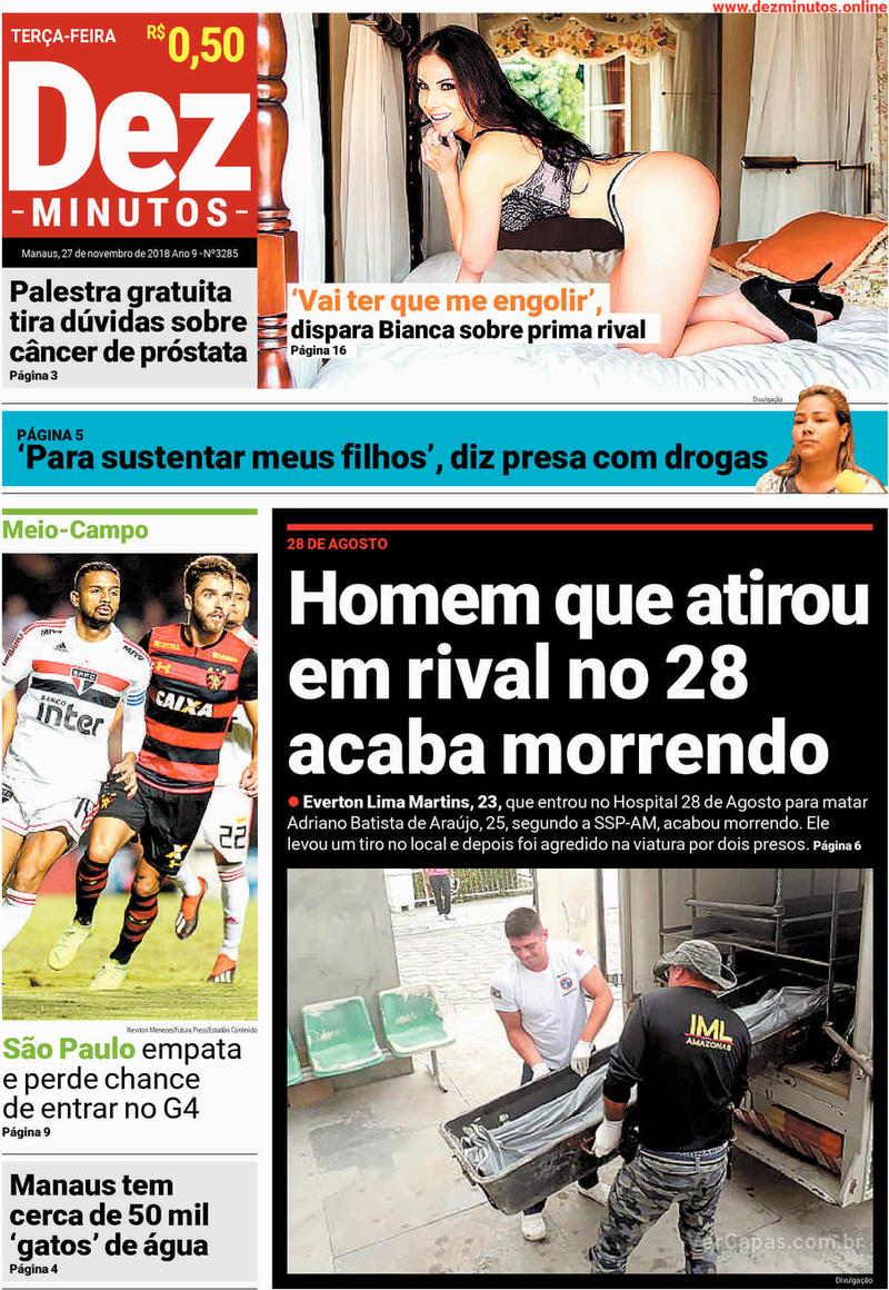 Capa jornal Dez Minutos 27/11/2018