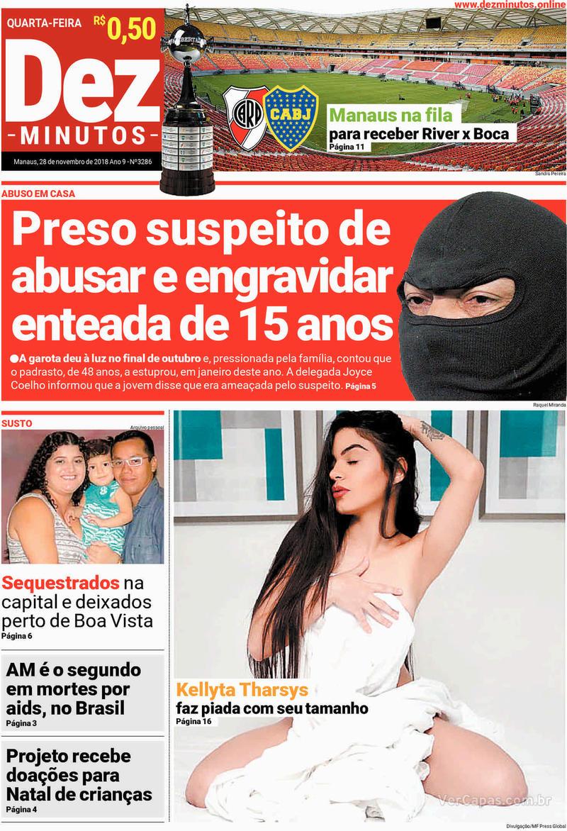 Capa jornal Dez Minutos 28/11/2018
