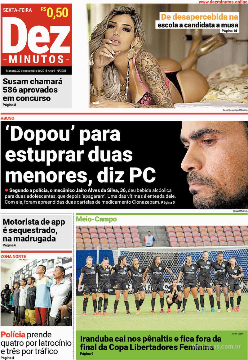 Capa jornal Dez Minutos 30/11/2018