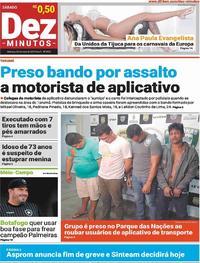 Capa Jornal Dez Minutos 25/05/2019