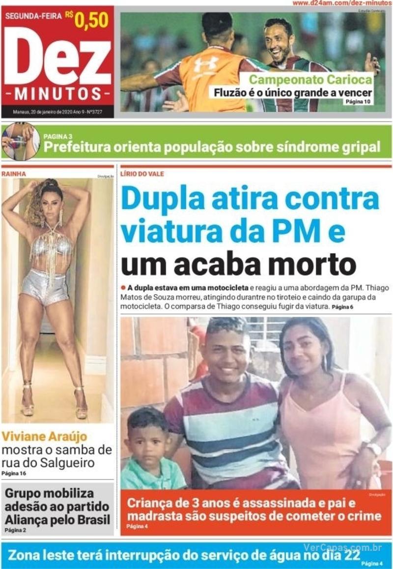 Capa jornal Dez Minutos