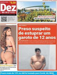 Capa do jornal Dez Minutos 02/12/2020