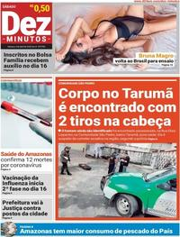 Capa do jornal Dez Minutos 04/04/2020