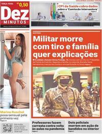 Capa do jornal Dez Minutos 04/08/2020