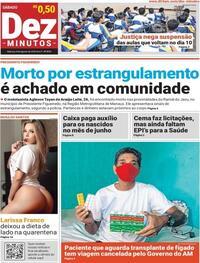 Capa do jornal Dez Minutos 08/08/2020