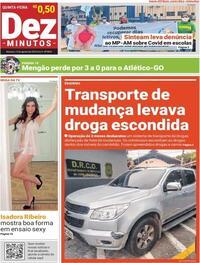 Capa do jornal Dez Minutos 13/08/2020