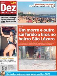 Capa do jornal Dez Minutos 19/09/2020