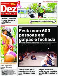 Capa do jornal Dez Minutos 19/10/2020