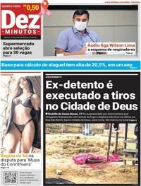 Capa do jornal Dez Minutos 21/10/2020