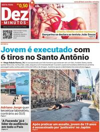 Capa do jornal Dez Minutos 23/10/2020