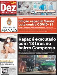 Capa do jornal Dez Minutos 25/05/2020