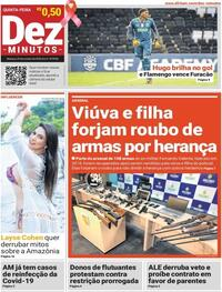 Capa do jornal Dez Minutos 29/10/2020