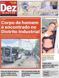 Capa do jornal Dez Minutos 30/05/2020