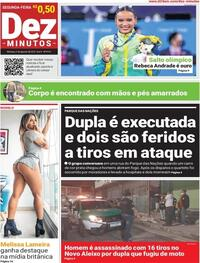 Capa do jornal Dez Minutos 02/08/2021
