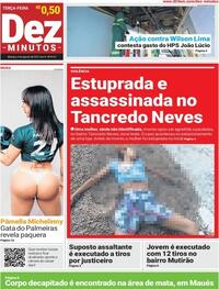 Capa do jornal Dez Minutos 03/08/2021