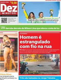 Capa do jornal Dez Minutos 04/08/2021