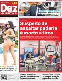Capa do jornal Dez Minutos 14/05/2021
