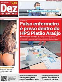 Capa do jornal Dez Minutos 15/04/2021