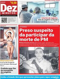 Capa do jornal Dez Minutos 16/01/2021