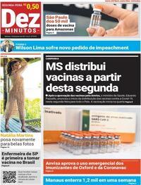 Capa do jornal Dez Minutos 18/01/2021
