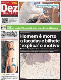 Capa do jornal Dez Minutos 21/01/2021