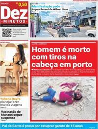 Capa do jornal Dez Minutos 23/01/2021