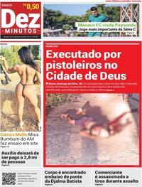 Capa do jornal Dez Minutos 25/09/2021