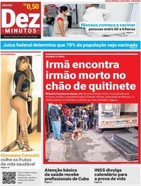 Capa do jornal Dez Minutos 27/02/2021