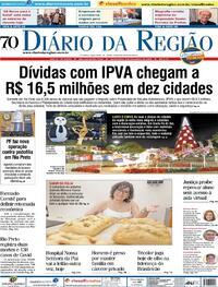 Capa do jornal Diário da Região 03/12/2020