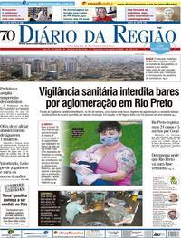 Capa do jornal Diário da Região 04/08/2020