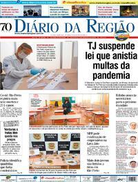 Capa do jornal Diário da Região 04/12/2020