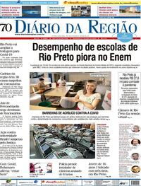 Capa do jornal Diário da Região 08/07/2020
