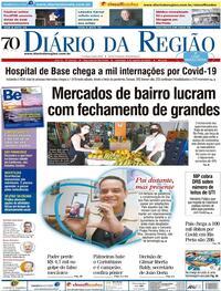 Capa do jornal Diário da Região 09/08/2020